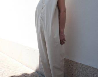 Organic Cotton Field Jumpsuit - Oatmeal - **FREE WORLDWIDE SHIPPING**