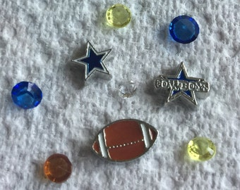 Dallas Cowboy Floating charms