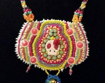 Color Me Romantically Dead Bib Necklace