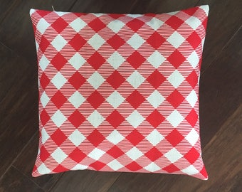 Red table cloth-pillow cover
