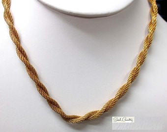 ANTIQUE Sarah Coventry Jewelry - Golden Braids Choker  #8953