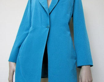 Fab vibrant blue Windsmoor silky blazer from the 90's. Size 10/12.