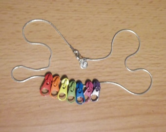 Rainbow Zip Silver-Plated Necklace