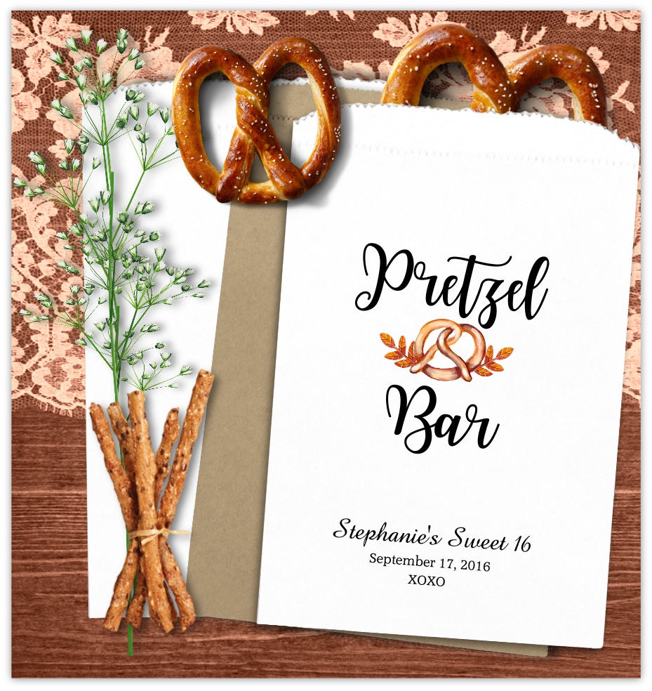 Custom Pretzel Bags Wedding Pretzel Bags Wedding Favors