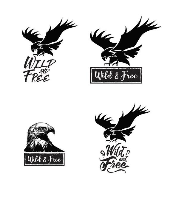 Wild & Free Eagle - File Download - svg, png, dxf, eps, jpeg file ...