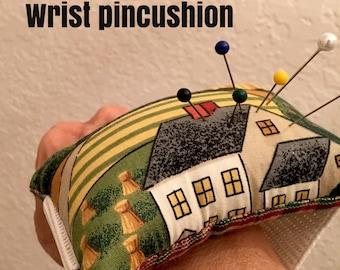 Pin cushion , wrist pin cushion , wrist pincushion , pincushion , handmade pincushion , gift for her , craft supply
