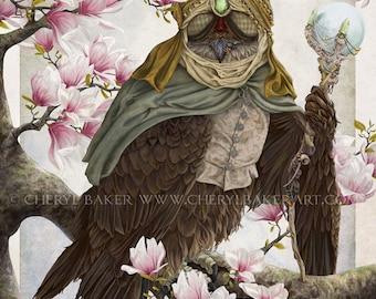 Woodland Art - Fine Art Falcon Print - Falcon - Bird Artwork - Bird Art Print - Woodland Nursery Bird Art - Nursery Bird Art - Bird Painting