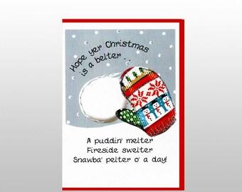 Christmas Snawba Pelter Card WWXM107