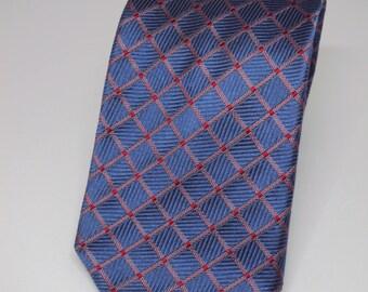 Betini All Silk Necktie Blue and Lavender Diamond Tie