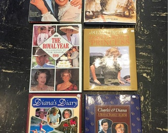 LOT 6 x Princess Diana Book (LOT discount)  Prince Harry Prince William Royal Family Royal Wedding