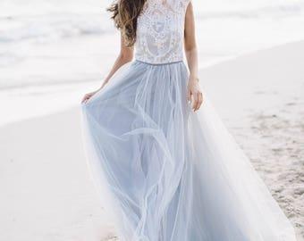 Grey wedding dress etsy grey wedding dress diamond sleeveless bridal gown luxurious lace wedding gown ethereal wedding junglespirit Choice Image