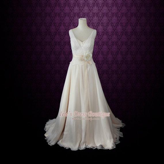 Grecian Wedding Dress: Chiffon Beach Wedding Dress Grecian Wedding Dress Silk