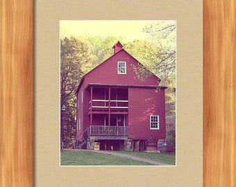 Red Grist Mill Fine Photography Wall Art Home Decor