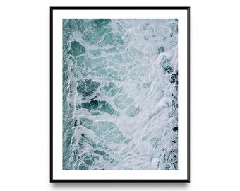 Ocean water wall art, ocean wall art decor, ocean waves print, ocean photography, ocean art home decor, ocean art, printable art,