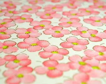 Handmade origami paper - Pink blossoms