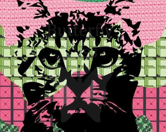 The Cat digital print