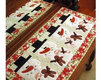 Be Merry- Christmas Table runner Pattern by Cleo and Me