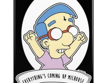 Milhouse. 4 Alternative Pop Art Simpsons Goth iPhone 7, 6s & SE/5S Phone Cases by zombieCraig