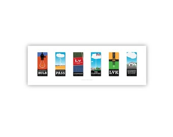 Livermore Landmarks: 6-Panel print
