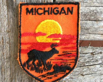 Michgian Vintage Souvenir Travel Patch by Voyager