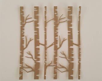 Birch Tree Forest Die Cuts