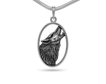Wolf Jewelry Wolf necklace Werewolf pendant Werewolf jewelry Animal jewelry Wolf totem Viking wolf Men's gift Wolf head Wolves Amulet wolf