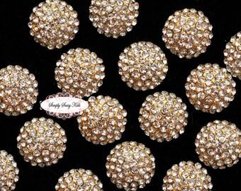 10pcs RD71d Rhinestone Crystal Embellishments Flatback Buttons DIY Wedding Bridal Wedding Hair Clips Accessories