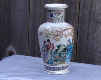Vintage Chinese Famille Porcelain Republic Period Vase Oriental Ceramic Collectibles Vase