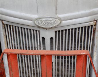 Ford Tractor Grill Antique Color Photograph 25% off with coupon code SPRINGSALE