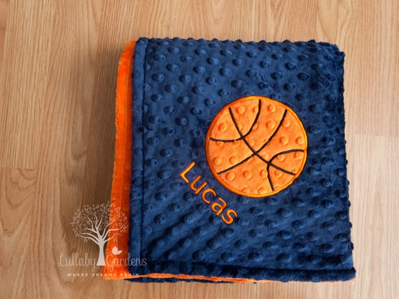 Basketball personalized minky baby blanket gender neutral basketball personalized minky baby blanket gender neutral baby blanket personalized baby gifts appliqued basketball blanket negle Choice Image
