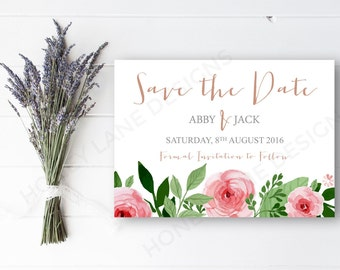 Personalised Printable, Save-the-Date-Printable Card - Abby Collection