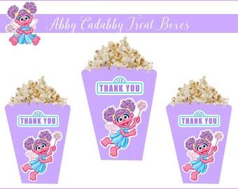 8 ABBY CADABBY POPCORN Boxes, Abby Cadabby Custom Treat Boxes, Abby Party Favors, Abby Party Supplies, Abby Cadabby, Abby Cadabby Party.