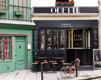 Paris Photography, Pastry Shop, Patisserie Odette, Fine Art Travel Photograph, French Decor, Large Wall Art