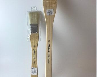Hake Wash Brush, Watercolor, Sumi, Ink, Artist Brushes, Flat Wide 2 pc Brush Set