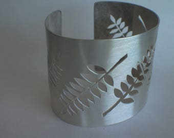 Fern Sterling Silver Cuff Bangle by Ceeb