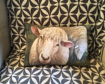 Two Sheep pillow