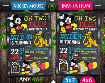 Mickey Mouse Invitation, Mickey Mouse Birthday, Mickey Mouse Invite, Mickey Mouse Party, Mickey Mouse Printable, Mickey Mouse Card