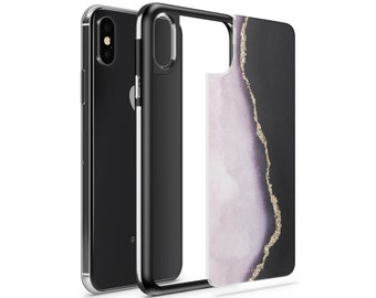 iPhone X, iPhone 8, iPhone 8 Plus Interchangeable Full Protection Slim Slate Milkyway Cases - Veins of Gold