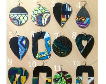fruitsoflove.... handmade Ankara earrings