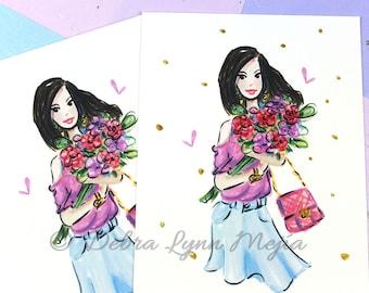 Fashion Illustration Sketch, Fashion Art, Fashion Illustration, Chic Wall Art, Fashion Print, Gift For Her-Semi Custom Print