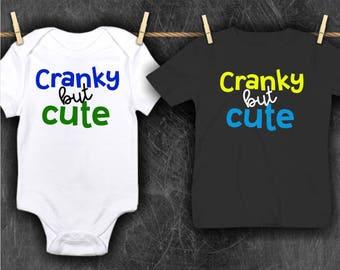 Cranky But Cute Baby Bodysuit | Cranky But Cute Toddler Shirt | Funny Baby Shirt | Toddler Shirt | Boy Girl Bodysuit