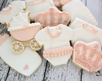 Rose Gold Baby Shower Cookies ...