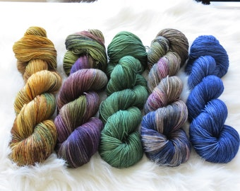 Gold Rush Fade Kit Set of Fingering Weight Yarn for Knitting or Crochet Ready to Ship!