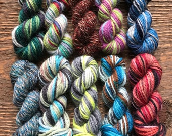 Paton's Kroy Sock Yarn Mini Skein Set -- 10 Mini Skeins/25 Yards Each