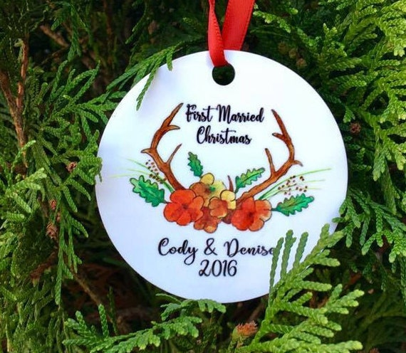 first married christmas ornament // christmas ornament // our