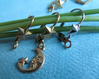 10 Pairs STAR Lever Back Earring Wires -Gold and Silver