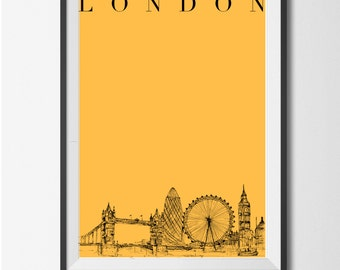 Hand Drawn LONDON print