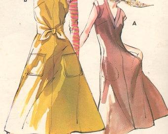 "SALE* KWIK SEW 623, Bust  34-37"". Ladies Scoop Neck/Vneck Flared Pullover Dress/Jumper, Uncut Vintage Kwik Sew Kerstin Martensson pattern"