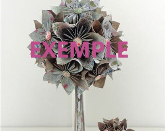 Origami paper wedding bouquet