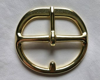"3"" Brass Double Bar Cinch Buckle"